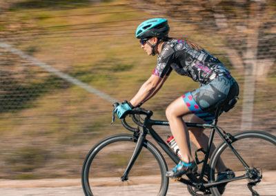 Melissa Paris biking - Build Train Race