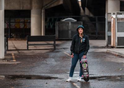 Lana Skateboarding - Build Train Race