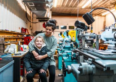 Jillian & her daughter - Build Train Race