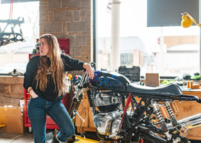 Andrea & her INT650 - Build Train Race