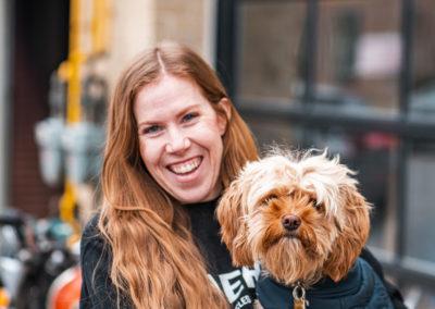 Andrea & her dog - Build Train Race